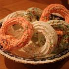 Kerstkransjes van eiwitschuim