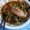 Zalm met miso soep